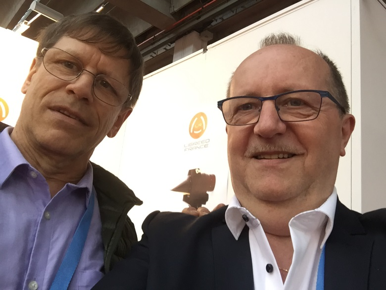 Selfie with Guy Légère, manufacturer of innovative reeds for saxophone